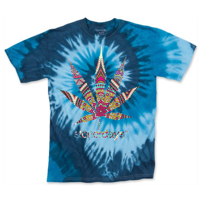 Men's Blue Mandala Tie Dye Tee