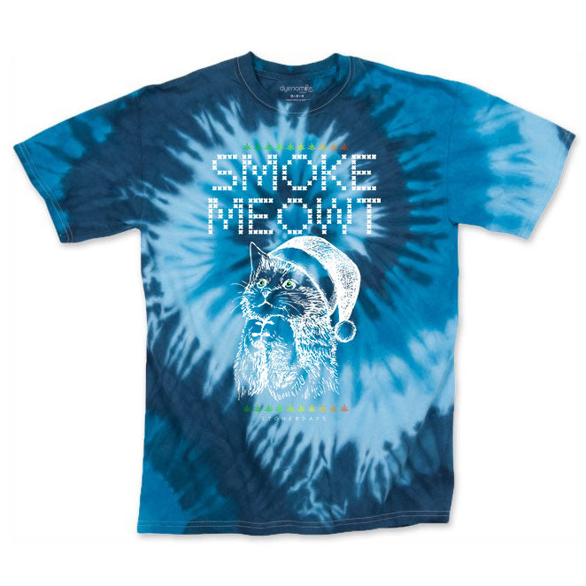 Men's Blue Smoke Meowt Tie Dye Tee