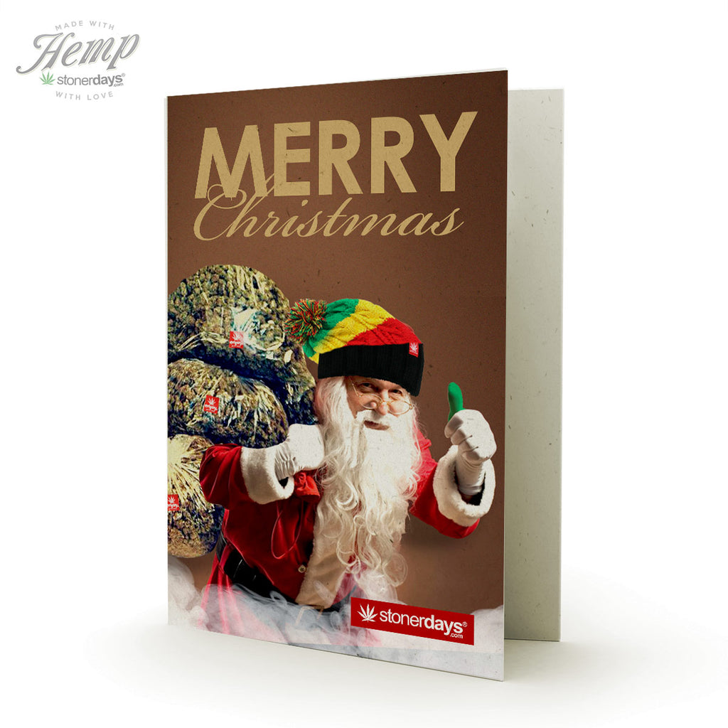 STONEY SANTA CHRISTMAS HEMP CARDS