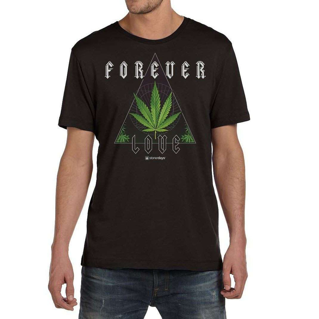 FOREVER LOVE MARIJUANA TEE FOR WEED LOVERS