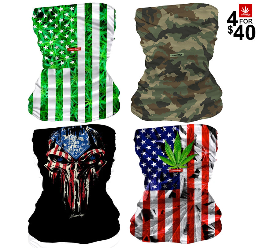4 For $40 All American Neck Gaiter Combo