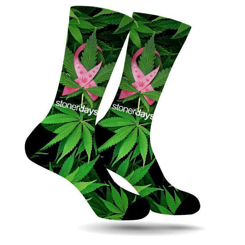 GREEN LEAF SUPPORT CREW SOCKS-StonerDays