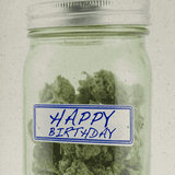 HAPPY BIRTHDAY MASON JAR HEMP GREETING CARD-StonerDays