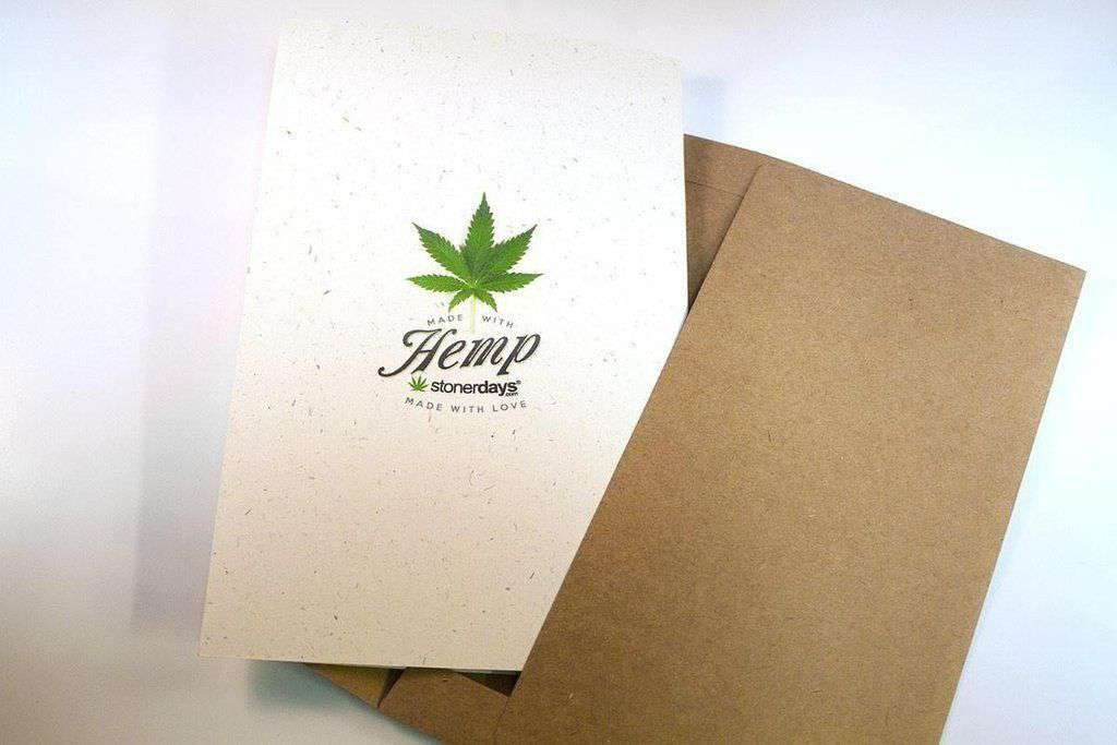 HAPPY HOLIBLAZE HEMP CANNABIS CHRISTMAS CARD