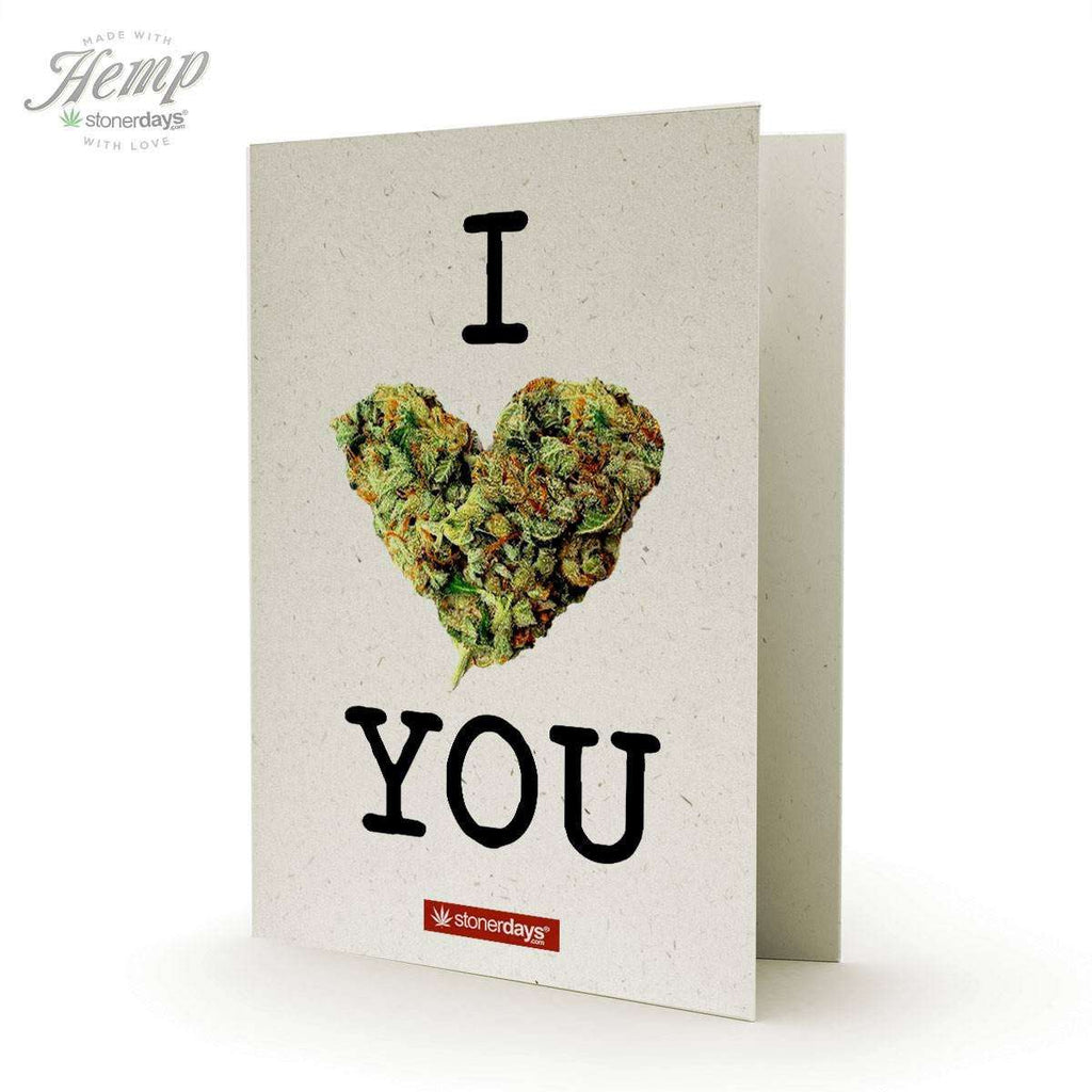 I BUD YOU HEMP GREETING CARD
