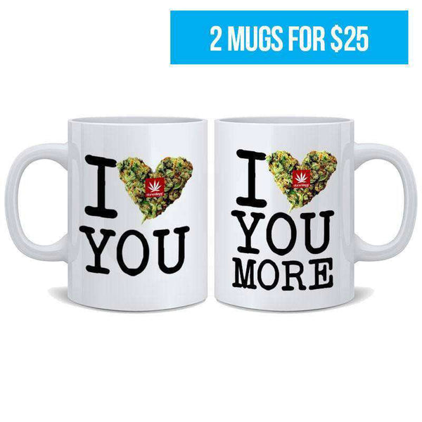 I BUD YOU NUG MUGS SET (2 MUGS FOR $25.00)-StonerDays