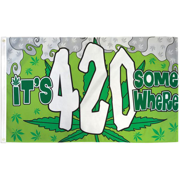 It's 420 Somewhere Flag 3x5 Feet