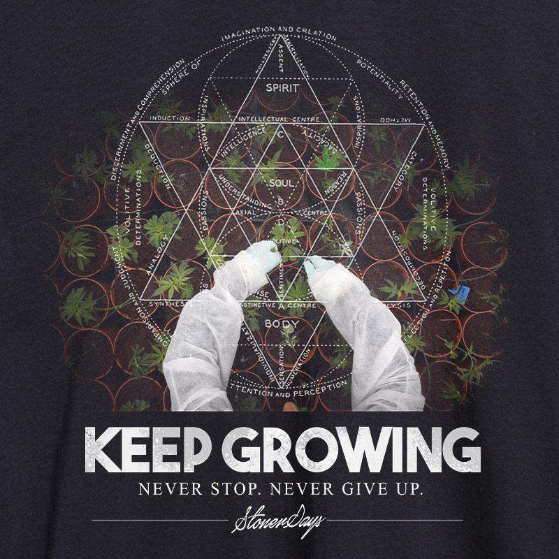 KEEP GROWING SACRED GEOMETRY HOODIE