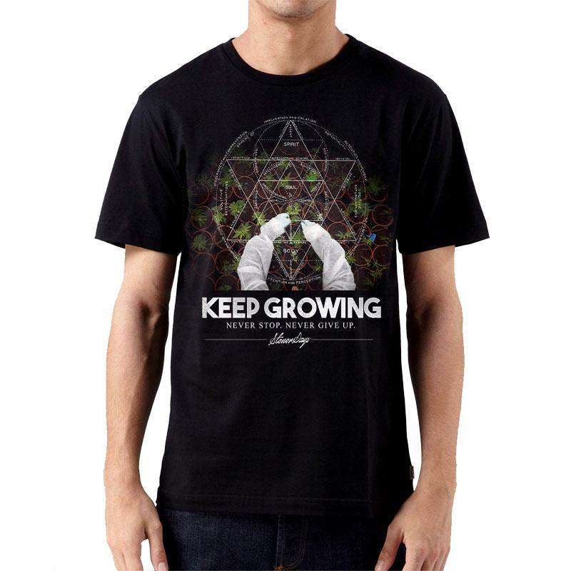 MEN'S KEEP GROWING SACRED GEOMETRY TEE