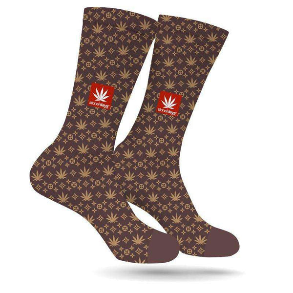 KING LOUIE PATTERN WEED SOCKS-StonerDays