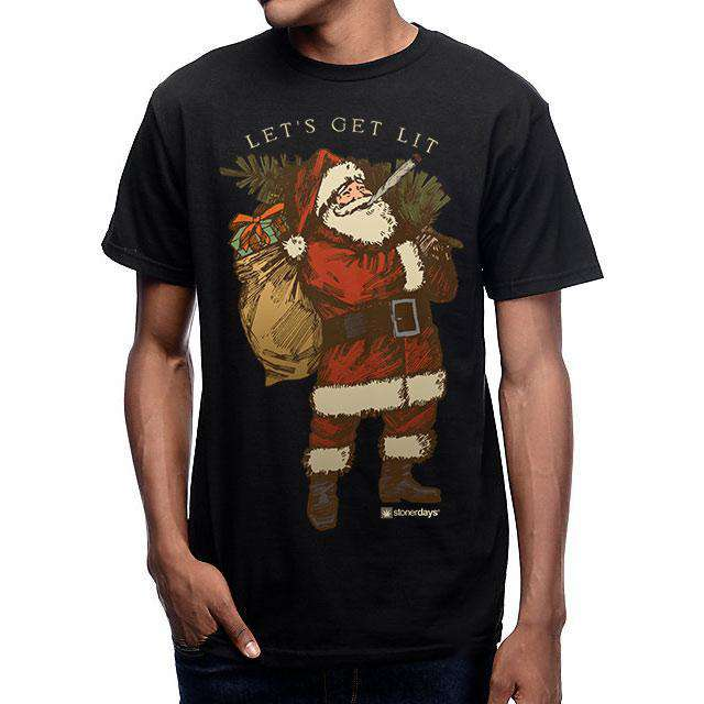Let's Get Lit Stoney Santa Men's T-Shirt