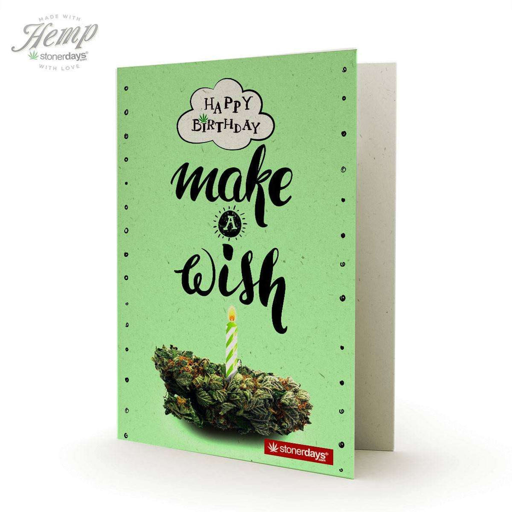 MAKE A WISH HEMP BIRTHDAY CARD