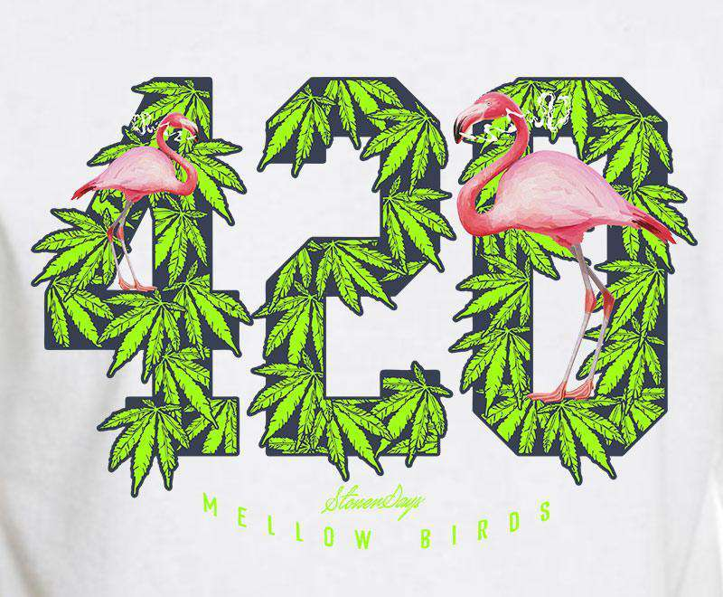 MEN'S MELLOW BIRDS TEE WHITE