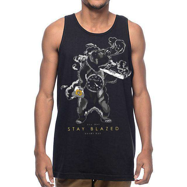 MENS BEAR STAY BLAZED TANK