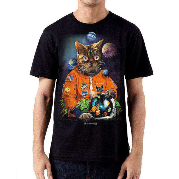 MEN'S CATSTRONAUT TEE-StonerDays