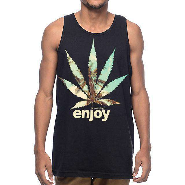 MEN'S ENJOY PALM TREES TANK