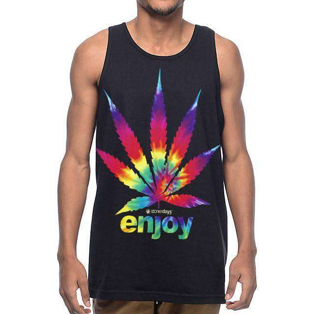 MENS ENJOY TIE DYE TANK-StonerDays