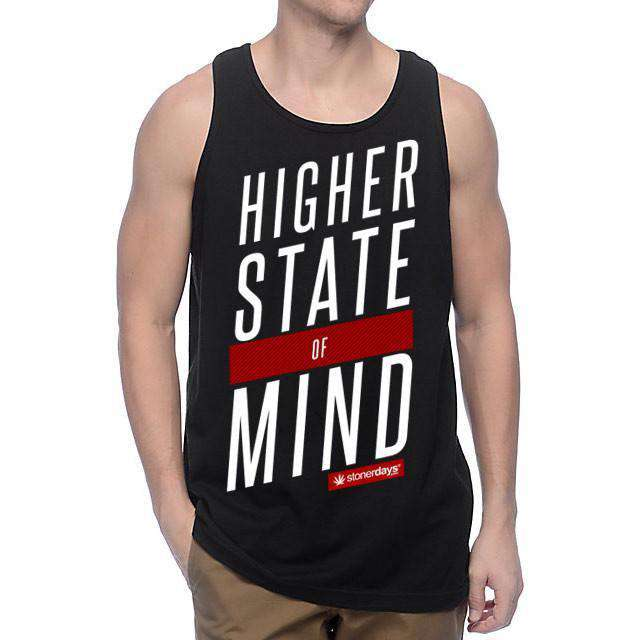 MEN'S HSOM RED WHITE TANK-StonerDays