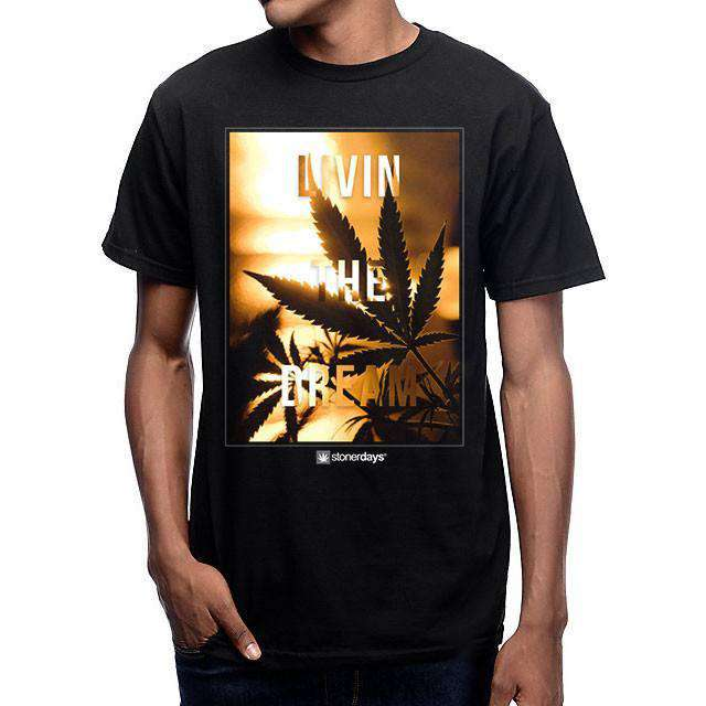 MEN'S LIVIN THE DREAM TEE-StonerDays
