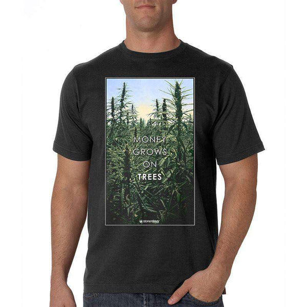 MEN'S MONEY GROWS ON TREES TEE-StonerDays