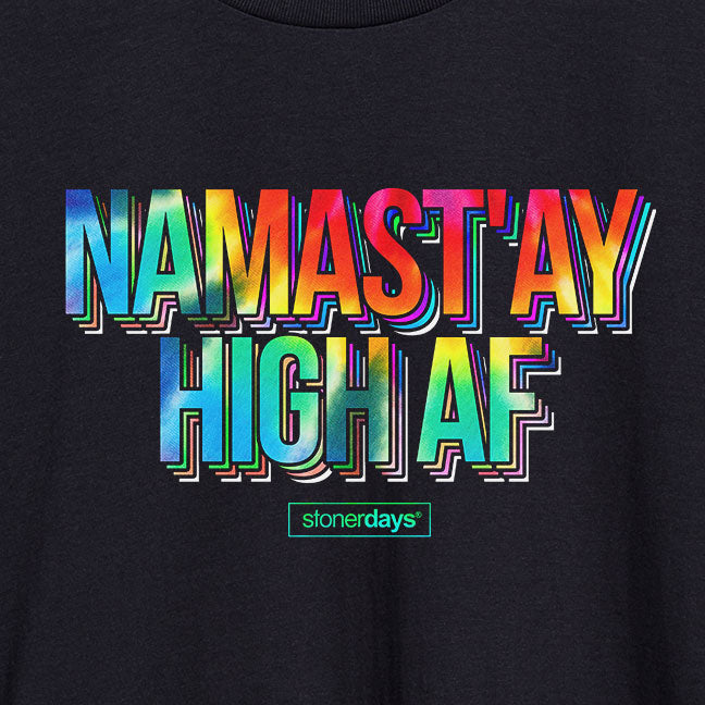 Namastay High AF Crop Top Hoodie