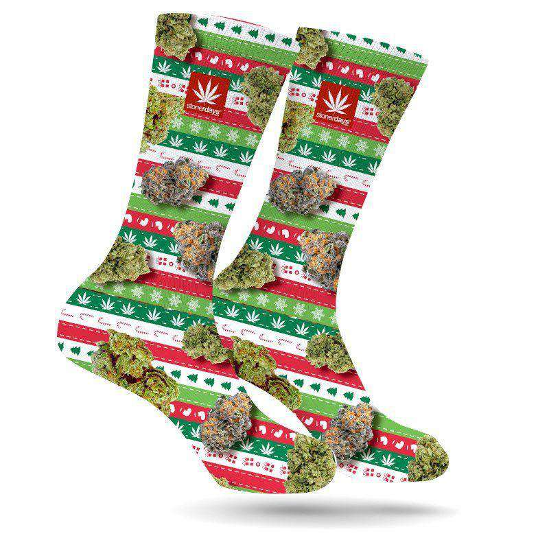 NUGS AND STRIPES UGLY KUSHMAS SOCKS