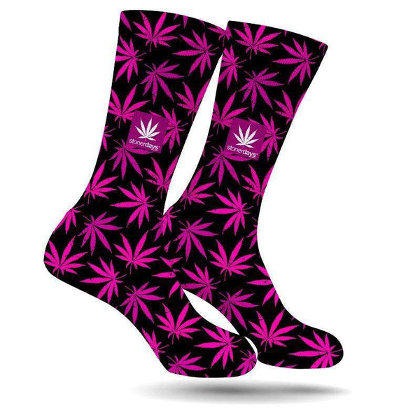 PINK SUPPORT CREW SOCKS-StonerDays