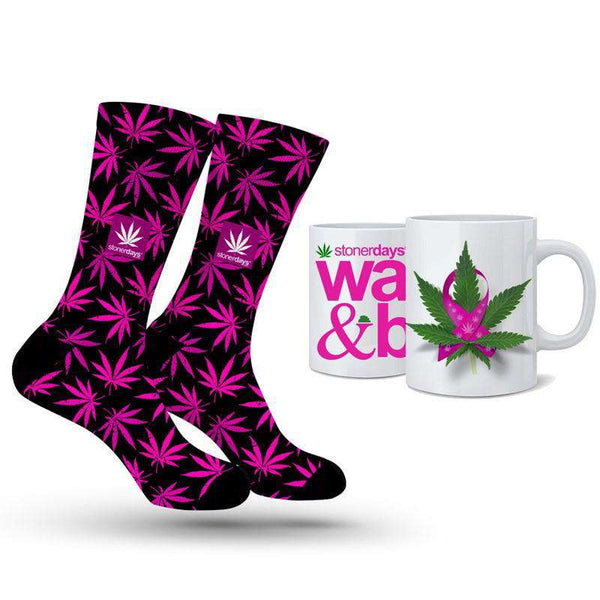 PINK SUPPORT SOCKS + NUG MUG COMBO-StonerDays