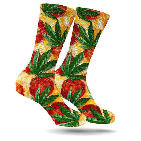 PIZZA & KUSH CREW SOCKS-StonerDays