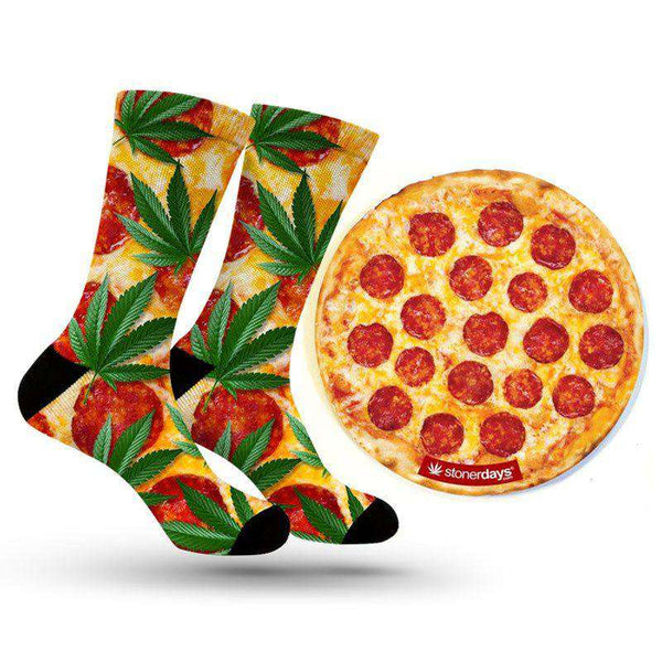 PIZZA SOCKS + DAB MAT COMBO-StonerDays