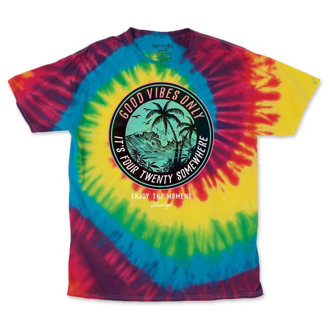 Men's Rainbow It's 420 Somewhere Tie Dye Tee