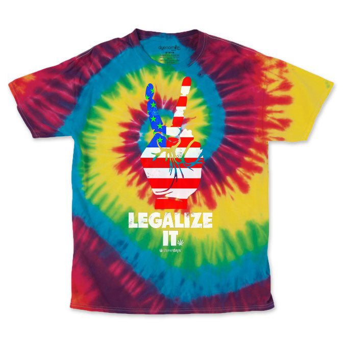 Men's Rainbow Legalize It Tie Dye Tee
