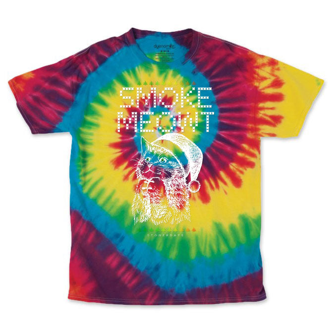 Men's Rainbow Smoke Meowt Tie Dye Tee