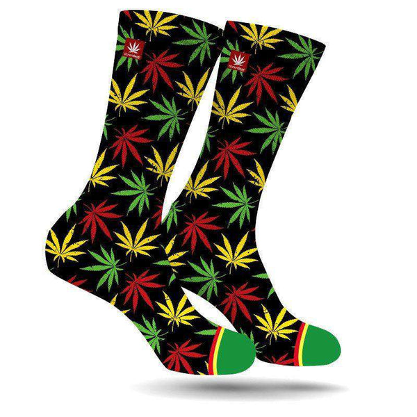 RASTA LEAF CREW SOCKS-StonerDays