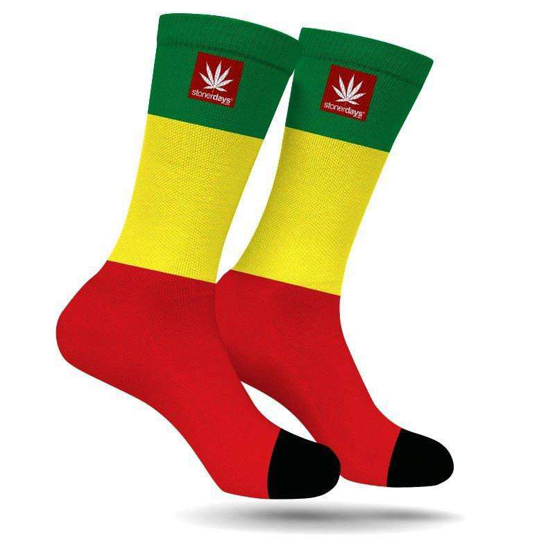 RASTA STRIPE CREW SOCKS-StonerDays
