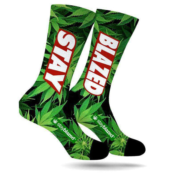 STAY BLAZED CREW SOCKS-StonerDays