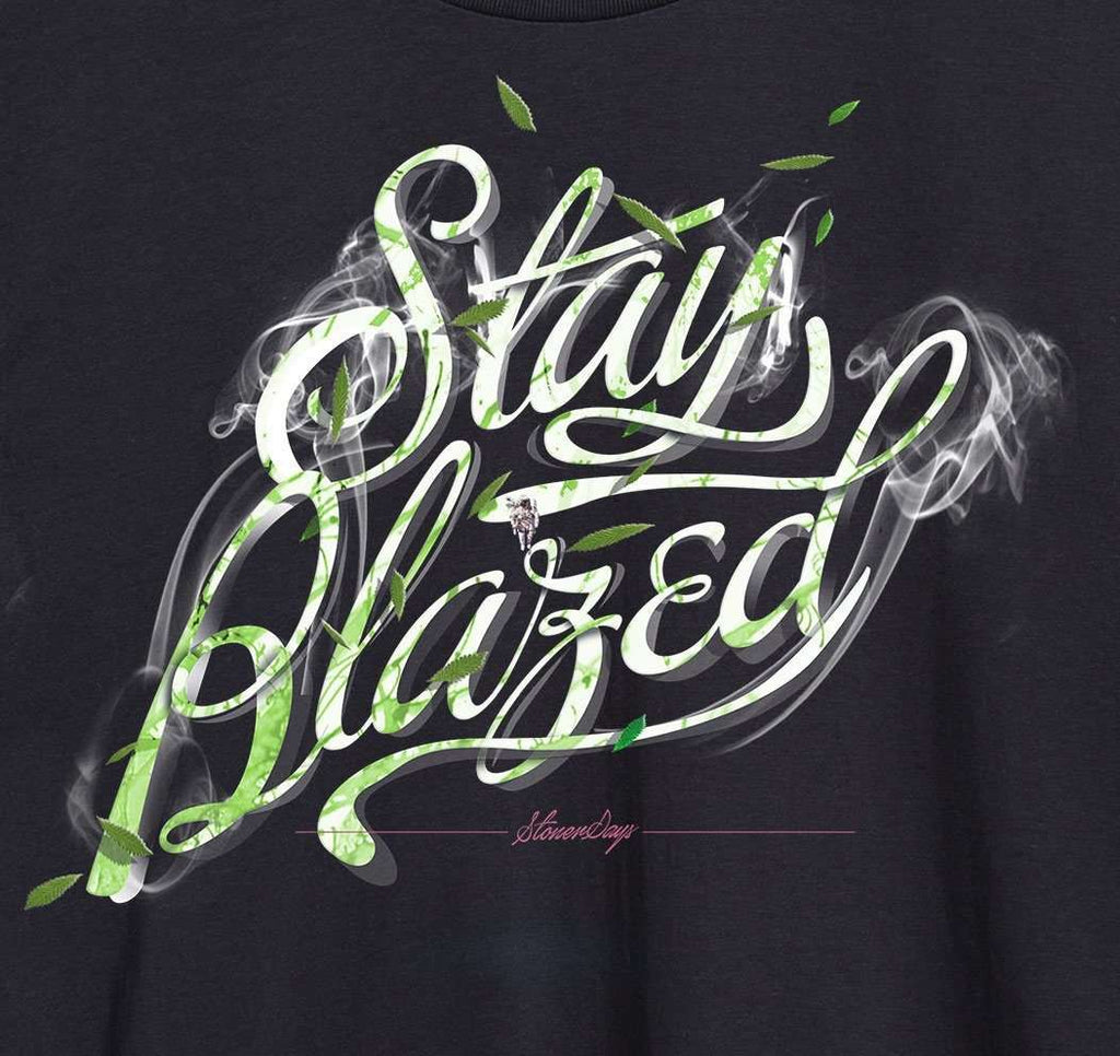 MENS STAY BLAZED SCRIPT TANK