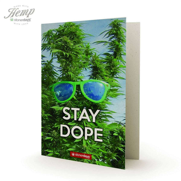 STAY DOPE HEMP GREETING CARD