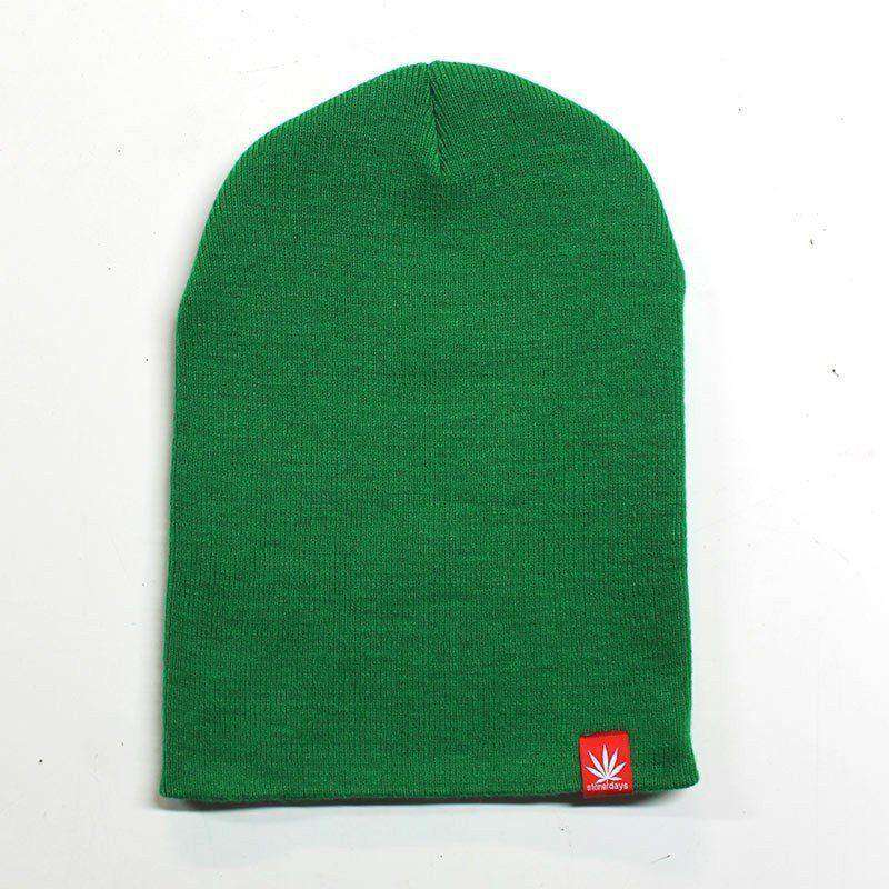 "Support Local Dispensaries + 12"" Green Beanie Combo"