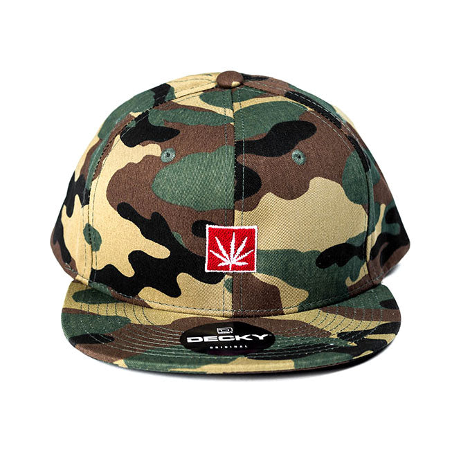 MARIJUANA HAT ARMY PATTERN