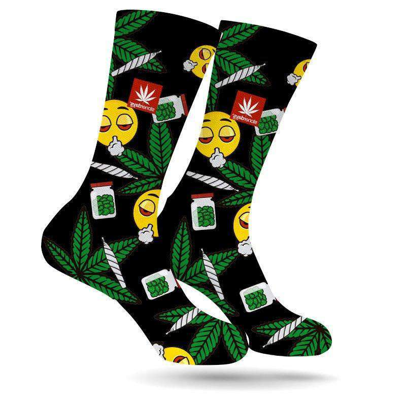 STONERDAYS EMOJI WEED SOCKS-StonerDays