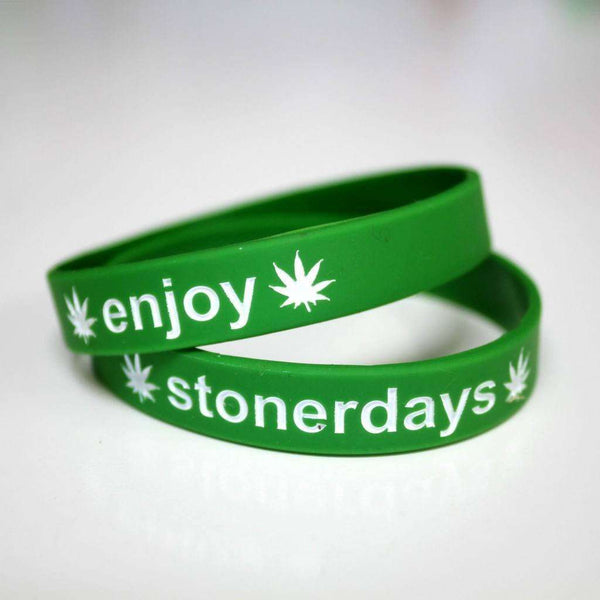 STONERDAYS GREEN ENJOY WRIST BANDS