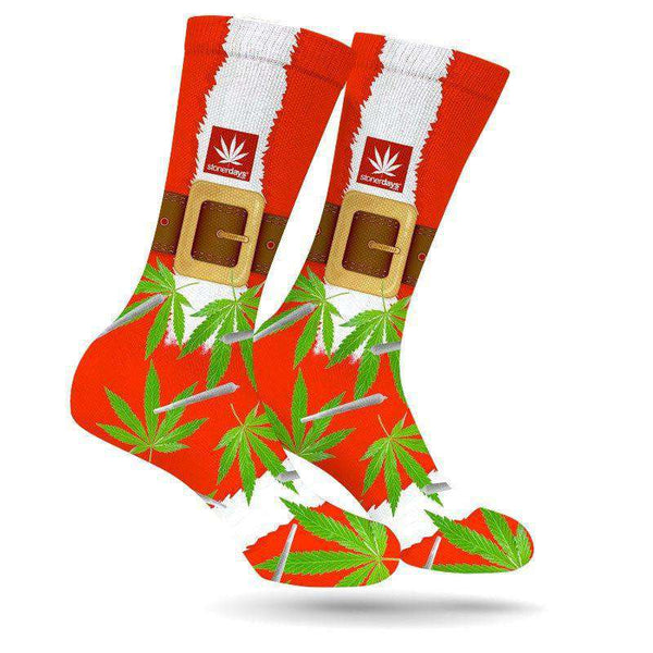 STONEY SANTA'S UGLY KUSHMAS SOCKS-StonerDays