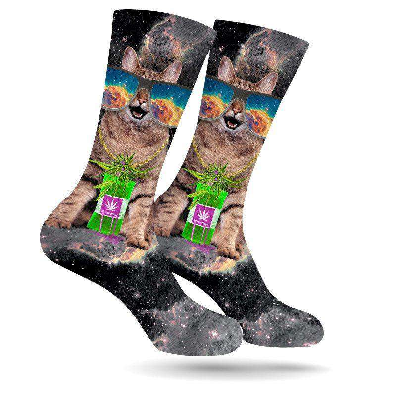 TRIPPY KITTY WEED SOCKS