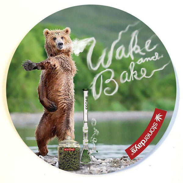 WAKE AND BAKE BEAR DAB MAT-StonerDays