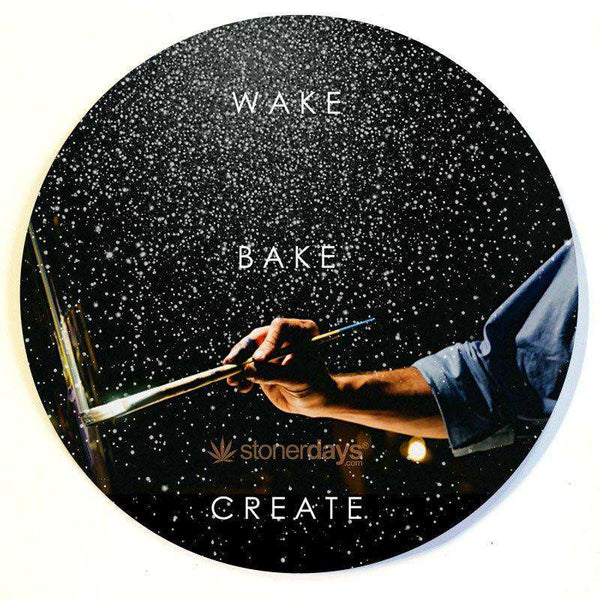 WAKE BAKE CREATE DAB MAT-StonerDays