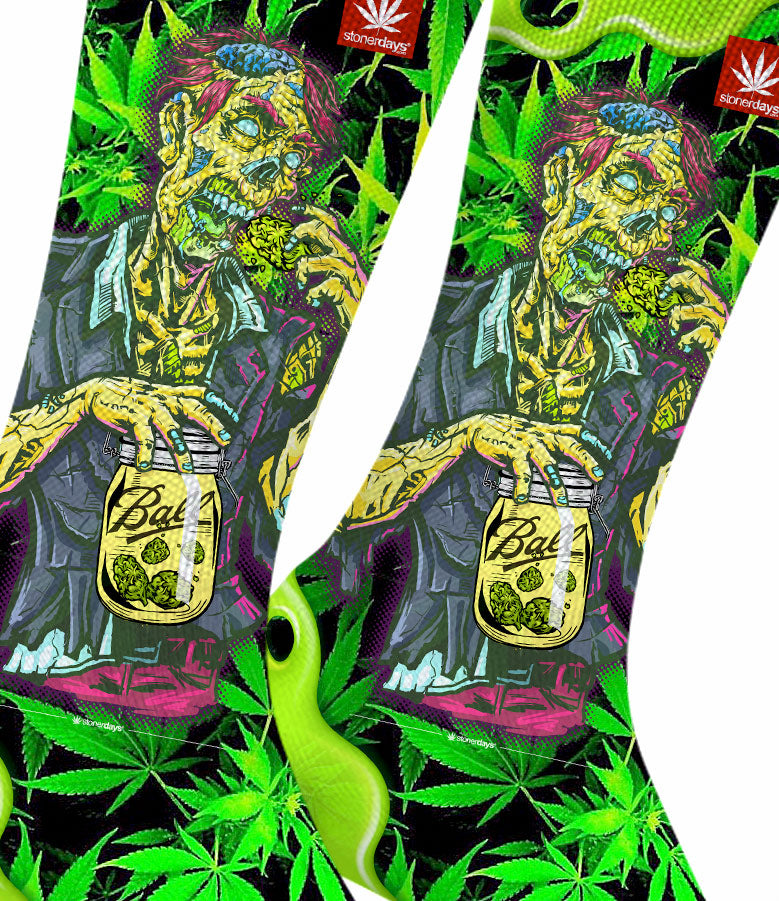 Zooted Zombie Weed Socks