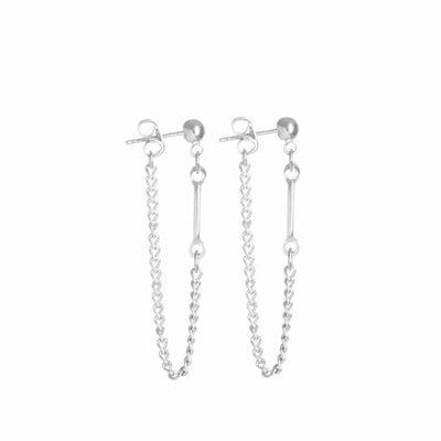 Aya Earrings - Silver - Monoxide Style - 1