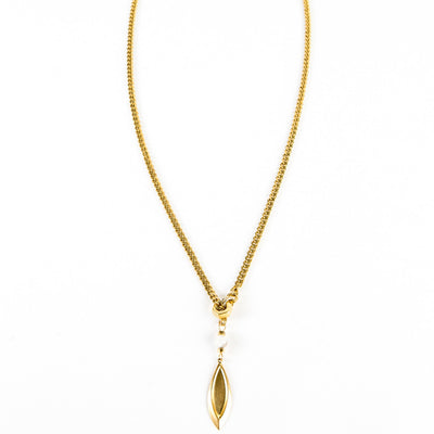 Ara Y Necklace - Gold