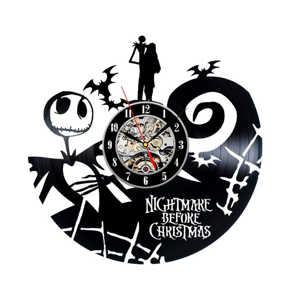 Nightmare Before Christmas Vinyl Clock – teedomino